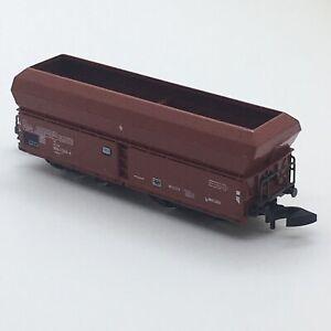 Vtg Marklin Mini Club Z Scale #8630 Hopper Car Rusty Red Western Germany