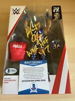 Kurt Angle WWE TNA Autographed Mattel Elite Series 66 Action Figure Beckett COA