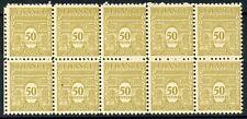 TIMBRE DE FRANCE NEUF LUXE 623 ** BLOC DE 10 TIMBRES ARC DE TRIOMPHE DE L ETOILE