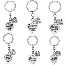 Gift For Teacher Teaching Assistant Nursery Keyring Love Heart Keychain Pendants
