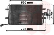 Kondensator, Klimaanlage für Klimaanlage VAN WEZEL 03015130