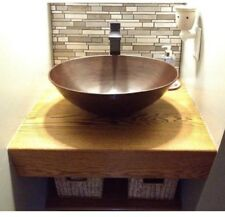 Solid Copper Oval Vessel Sink Countertop Bathroom Basin ~ Antique Aged Finish