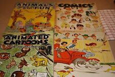 LOT 4 VTG WALTER FOSTER ART INSTRUCTION BOOKS-RASMUSSAN CARTOON ANIMATION COMIC