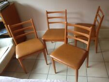 Chairs Dining Kitchen Vintage Retro 1960s 70s set of 4