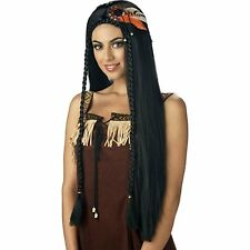 Pocahontas Indian Princess Native American Adult Maiden Wig Womens Pocohontas