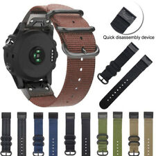 Replacement Nylon Three Rings Wristband 22mm/26mm Quick Release Strap For Garmin