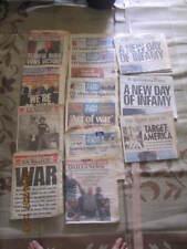 9/11/01 New York Times 6 Newspaper Set World Trade Center Bush NYFD NYPD