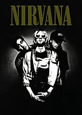 More details for nirvana black and white group print a4 and a3 wall art poster decor artwork