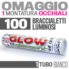 100 BRACCIALETTI LUMINOSI BIANCO fluo DJ starlight strobo BRACCIALI LUCE 30332