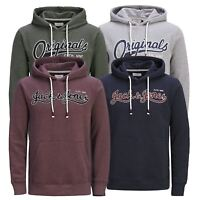 Mens Hoodie JACK & JONES Authentic Cotton Hooded Pullover Sweater
