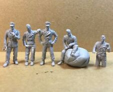 █ 1/72 Resin WWII German Ace Group Wittmann Tank Crew 5 Figures Unpainted KS477