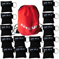 100pcs CPR Mask with Keychain AED Transparent Disposable CPR Face Shield