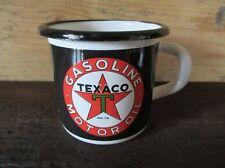 Tasse à café Mug emaillé Huile TEXACO plaque émaillée emailschild enamel cup