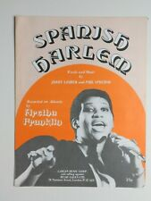 Spanish Harlem - Aretha Franklin  sheet music piano vocal 1961 -  photo cover