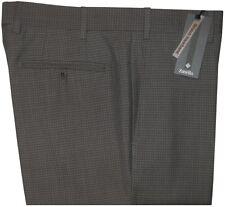 $425 NEW ZANELLA CURTIS GRAY TONE CHECK SUPER 120'S WOOL SLIM FIT DRESS PANTS 34