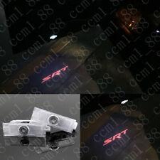 2X Red SRT Logo LED Laser Projector Door Lights For Dodge Challenger R/T 2008-19