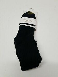 Gold Toe Men's Fluffies Casual Crew Socks (3 Pairs)