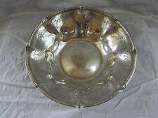 "Vintage Towle #52046 Sterling Silver Rose Motif 10"" Serving Bowl, Mono"