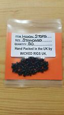 Black Hook Stops x Pack of 50.Pop Up,Chod.Hair Rigs etc + 100 Boilee Stops Gift