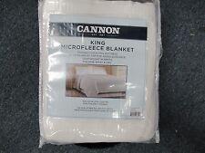 New Cannon Microfleece Blanket 90 x108 King White 2 Inch Satin Hem Beautiful !