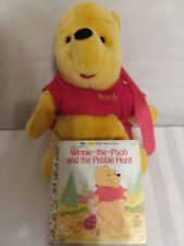"Disney Winnie-the-Pooh Plush Backpack 14"" + Vintage Winnie-the-Pooh Golden Book"