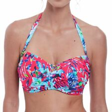 Fantasie Swimwear Fiji Underwired Twist Bandeau Bikini Top Azalea 6541