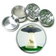 "Vintage Alien Abduction D8 Aluminum Herb Grinder 2.5"" 63mm 4 Piece"