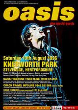 More details for oasis - knebworth park (1996) - music concert poster art print
