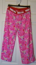 DISNEY Sleep TINKER BELL Size Small Pajama Bottoms PINK 100% Cotton NEW
