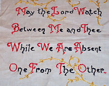 """VINTAGE SAMPLER, """"MAY THE LORD WATCH BETWEEN ME AND THEE"""", c1940"""