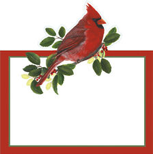 Winter Songbirds WILLIAMSBURG  Christmas Die-Cut Place Cards 9 x 9cm Pack of 8