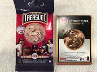 ANTHONY RIZZO CHICAGO CUBS 2018 BASEBALL TREASURE BRONZE COIN CARD #44 NEAR MINT