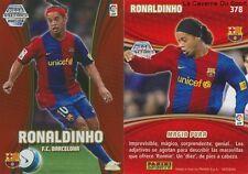 N°378 RONALDINHO # BRAZIL FC.BARCELONA MEGACRACKS CARD PANINI LIGA 2008