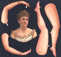 Uralte Teile zum Basteln einer Ballerina L&B 2686 - Papier Puppe Paperdoll