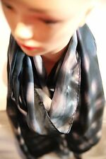 DAVID LAWRENCE Graffiti silk scarf ink - white in colour new with tag