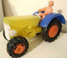 "MASSEY FERGUSON PULL TRACTOR BIG PLASTIC 12"" TOY CAR ARGENTINA 1960's"