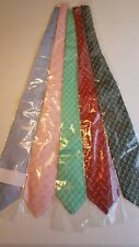"New, mulitcolor Men's necktie monogram ""B"" Lot of 5 pcs ; BPGRBl"