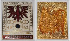 Emaillierte Plakette Tiroler Landesschiessen 1962
