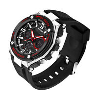 Men's Boy Waterproof LCD Digital Stopwatch Date Rubber Sport Wrist Watch