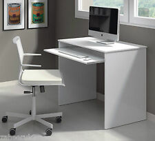 Milan Small White Gloss Desk Computer Table Laptop 002314BO