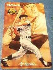 1997 Sony/Sprint Phone Card Mickey Mantle Card #8 Unused Unscratched