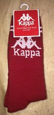 Kappa Unisex Authentic Aster 1 Pair Socks Large Red White Striped