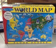 Melissa & Doug Extra Large Floor Puzzle New World Map Homeschool Geography