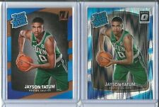 Jayson Tatum 2017-18 Donruss Rated Rookie + Optic Silver Shock Prizm RC Lot