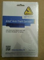 INTEL ANTI THEFT SERVICE FOR LAPTOPS  1 YEAR  SERVICE LICENCE ACTIVATION CODE