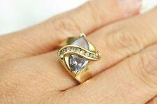 10K Yellow Gold Tanzanite and Diamond Ring Size 7.25 GIA APPRAISAL 1781.43!!
