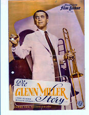 Jimmy Stewart as Glenn Miller 4pg German Movie ad/flyer Louis Armstrong big band
