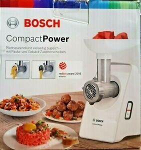 BOSCH MFW3502W Fleischwolf CompactPower Weiß - inkl. Gebäck/Pasta Aufsatz