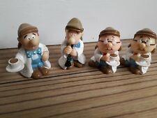 Tetley Tea Folk Figures Plastic Promotional Figures X4