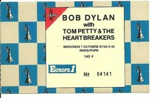 RARE / TICKET BILLET DE CONCERT - BOB DYLAN : LIVE A PARIS ( FRANCE ) 1987